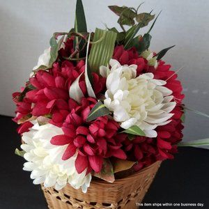 Artificial Peonies and Mum's Bouquet